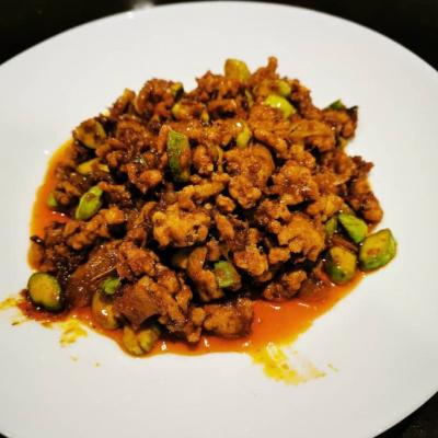 Minced Pork  Stir-fry Belacan & Petai